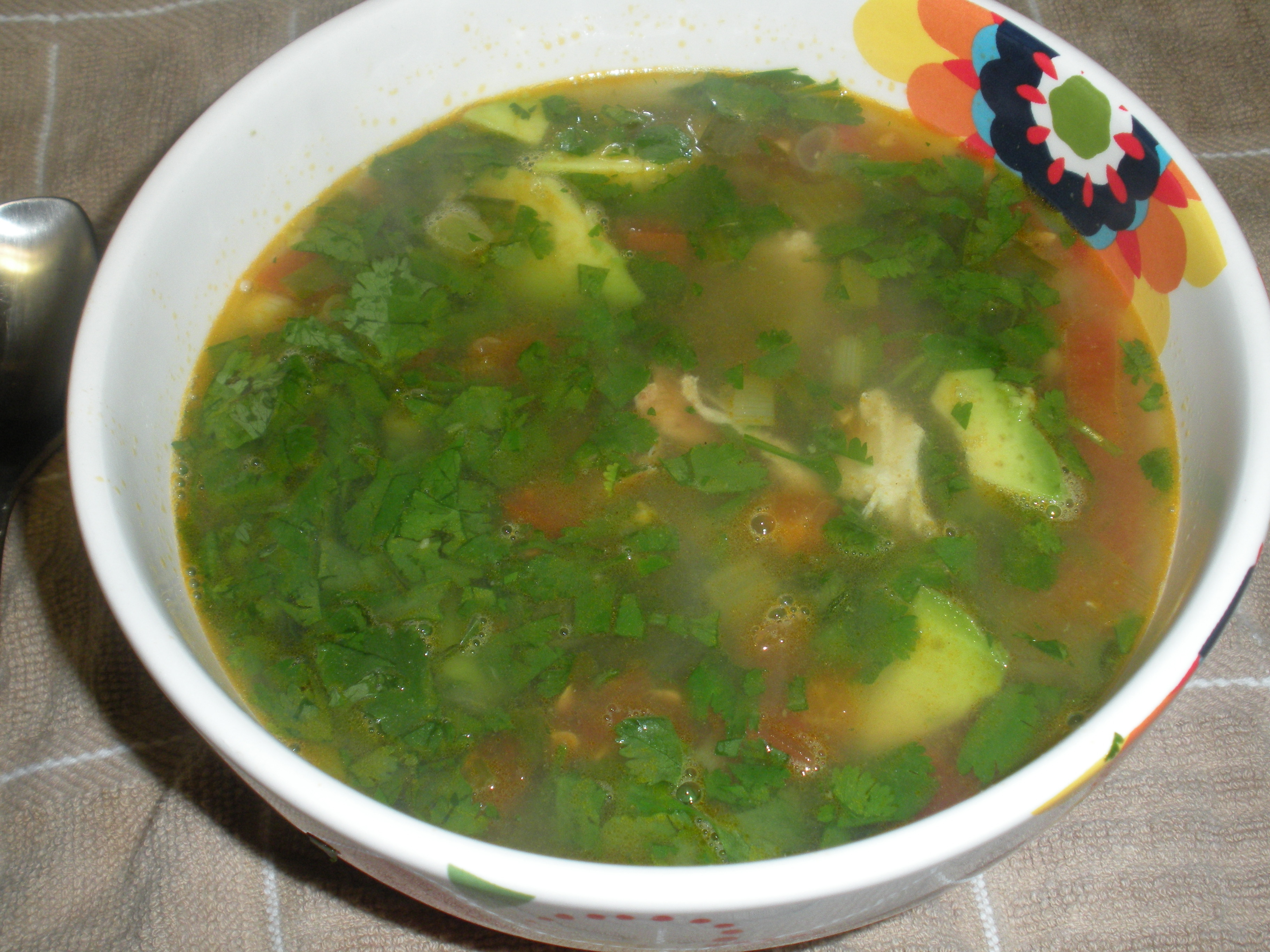 Day 91, 92, 93, and 94: Chicken and Avocado Soup